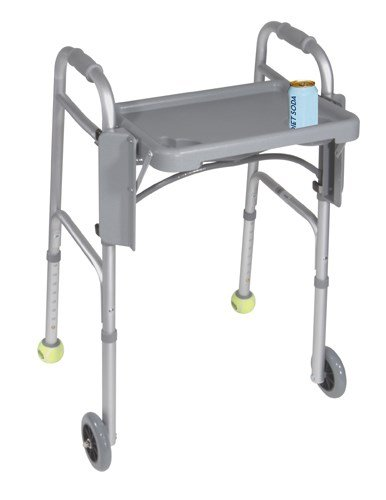 Guardian Folding Flip Tray for Walker Gray Plastic [Health and Beauty]