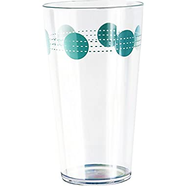 Corelle Coordinates by Reston Lloyd South Beach Acrylic Tumbler Glasses (Set of 6), 19 oz., Clear