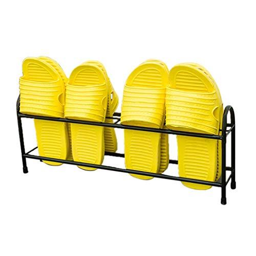 1yess Poder Pequeño Zapatero, Cuarto de baño Habitación de Dormitorio Piscina Cuarto de baño Zapato Simple 45 * 10 * 20cm Shoebox (Color: Negro, Tamaño: 45 * 10 * 20cm)