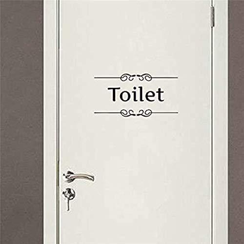 JXLLCD toiletdeur sticker logo bedrijf huishandleiding muursticker 57 x 28 cm