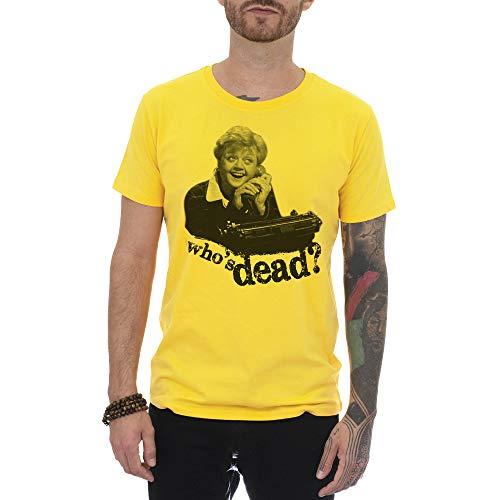 MUSH T-Shirt Signora Fletcher Telefono. Who IS Dead - Uomo-S - Gialla