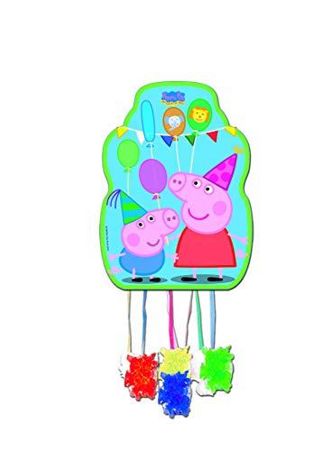 Peppa Pig 0846, Piñata Profil, Multicolor, für Partys und Geburtstage, Maße: 33x46 cm