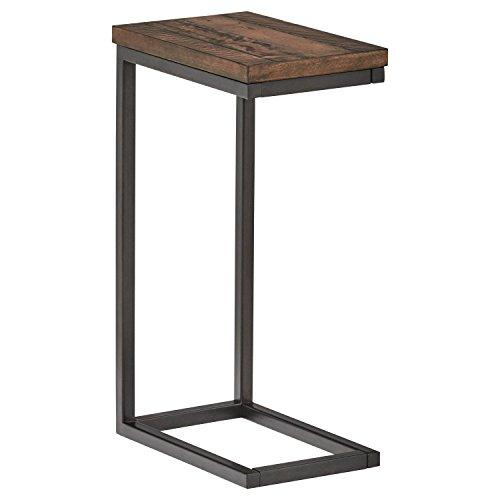 Amazon Brand – Stone & Beam Larson Industrial Wood & Metal Side End Table, 22'W, Walnut