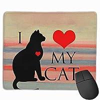 猫が大好き マウスパッド ゲーミングマウスパッド ラップトップマット pcマウスパッド リストレスト ラバーマット 滑り止め 耐久性 高級感 25*30