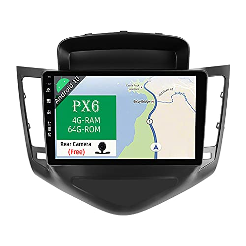 JOYX PX6 Android 10 Autoradio para Chevrolet Cruze (2009-2014) - [4G+64G] - Gratis Canbus Cámara - IPS 9 Pulgada - 2 DIN - Apoyo Dab 4G WLAN BT4.0 Carplay Mandos de Volante HDMI 4K-Video Android Auto