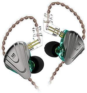 KZ ZSX Earbud 5BA 1DD 12 Unit Hybrid Technology Sports HiFi Headset in-Ear Earphones (Without mic, Cyan)