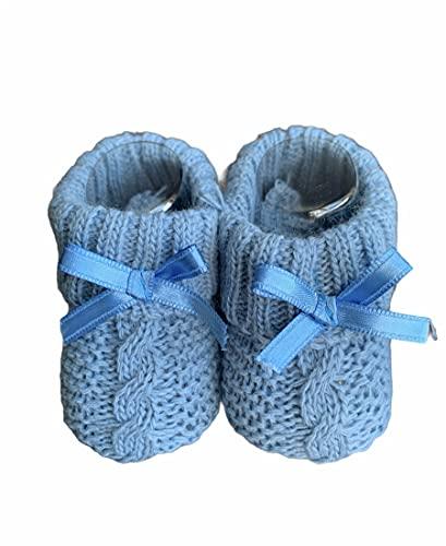 Dor Calcetines Bebé Niñas 0-12 Meses - Trenzado - en Caja Regalo Calcetines con Lazo para Bebé Recién Nacidos Niños Pequeñas (Azul)