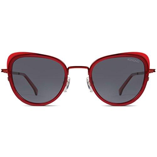 Komono heren zonnebril BILLIE, maat: ONESIZE, kleur: rood, kleur:SCARLET