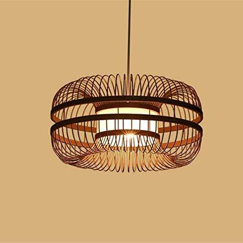 DULG Escalera de Madera Hecho a Mano del Enrejado de Mimbre Rattan Colgantes Lámparas de Techo Creativo Restaurante Retro Tropical de bambú de la lámpara de iluminación Accesorios de la Sala de Estar