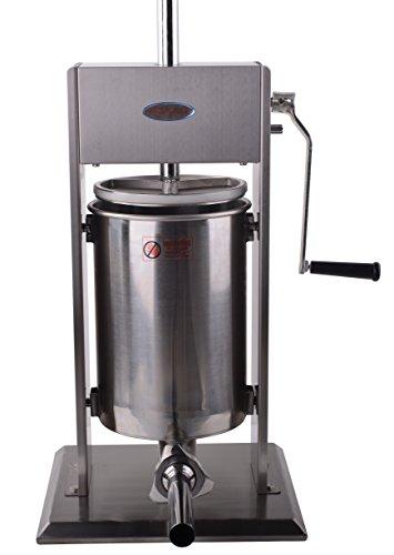 Hakka 30 Lb/15 L Sausage Stuffer 2 Speed Stainless Steel Vertical Sausage Maker