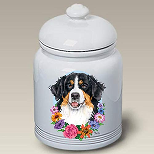 Best Bargain Bernese Mountain Dog - Best of Breed Ceramic Doggie Treat Jar