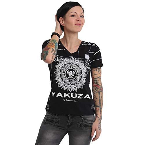 Yakuza Damen International Stripes V-Neck Acid T-Shirt