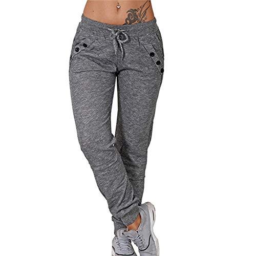 Laisla fashion Pantalones De Chándal Para Mujer Pantalones Clásico De Jogging Básicos Sencillos Y Relajados Para Mujer Pantalones Deportivos Informales Cómodos Para Ejercicio Físico Pantalones Deporti