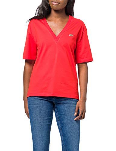 Lacoste TF5458 T-Shirt, Groseillier, 42 Femme