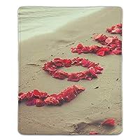 マウスパッド ゲーミングマウスパッド 滑り止め 18X22 厚い 耐久性に優れ 甘いロマンチックな花びら愛 おしゃれ