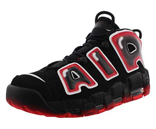 Nike Air More Uptempo '96 - Zapatillas de baloncesto para hombre, Rojo (negro, blanco (Black/White-Laser Crimson)), 41 EU