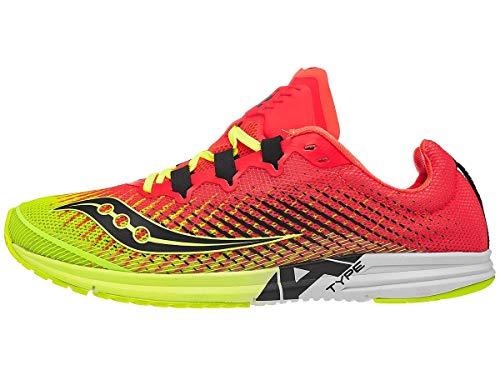 Saucony Type A9 Women's Running Shoe, Citron/Pink, 8 Medium