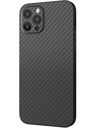 Black Rock - Hülle Carbonhülle Hülle Ultra Dünn Passend für Apple iPhone 12 Pro I Aramid Handyhülle, Fiber Cover, Kabellos Laden, Premium (Schwarz)