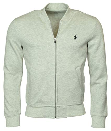 Polo Ralph Lauren Men's Double-Knit Bomber/Track Jacket - XL - Grey Heather