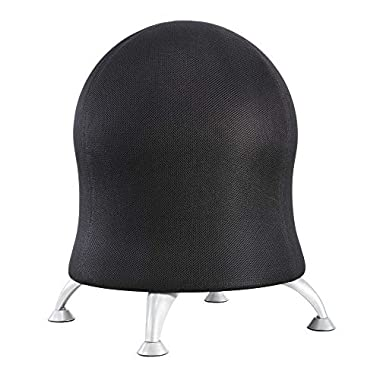 Safco Products Zenergy Ball Chair, Black, Low Profile, Active Seating