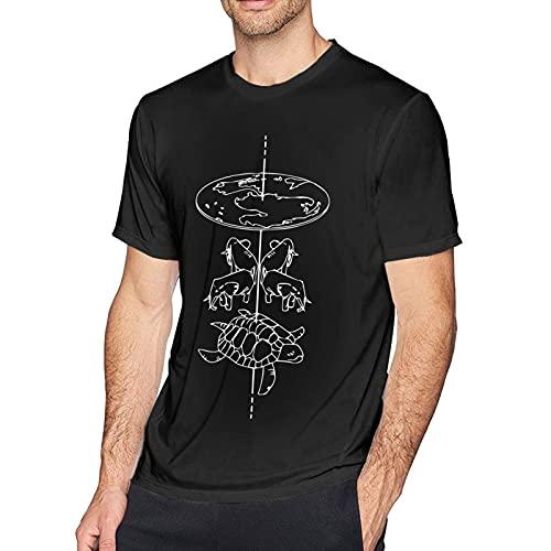 ファッションTシャツCleshionDisconstruction DiscworldテリープラチェットブックシリーズデザインTシャツメンズクールクルーネックTシャツブラック