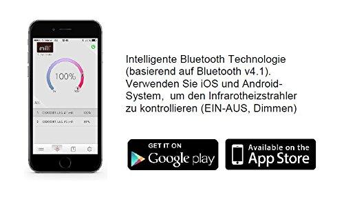 Infrarotstrahler HeizMeister LuXus Professionell silber, steuerbar über Smartphone oder Fernbedienung - 2
