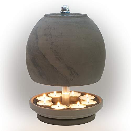 HP-TLO-Serie-K-B-XXL-28/18-9 Kerzen! Teelichtlampe Teelichthalter Teelichtofen Stövchen Meditationszubehör Kerzenhalter Teelichter + Feuerzeug GRATIS