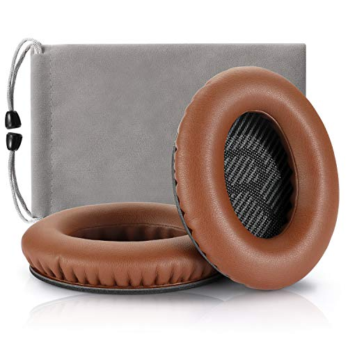 Headphones Replacement Ear Pads,for Bose Quietcomfort QC15 QC25 QC35 35 ii-(Brown)