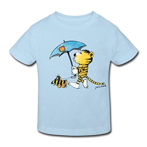 Janosch Kleiner Tiger Tigerente Mit Schirm Kinder Bio-T-Shirt, 98-104, Hellblau