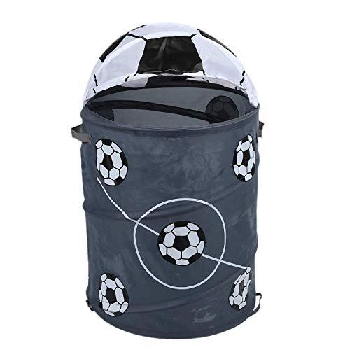 Canasta de lavandería plegable para modelado de fútbol Barriles de almacenamiento Barril de almacenamiento Tienda de juguetes de tela de poliéster