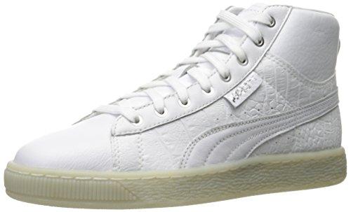 PUMA Women's Basket Mid Ali WN's Fashion Sneaker, White Silver, 10.5 M US