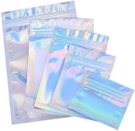 Limited price TranTran TPT 5% OFF 100pcs Translucent Zip Lock Storag Bags Holographic