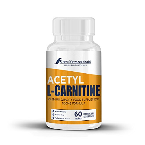 Pure Acetyl L Carnitine ALC ALCAR 500mg Supplement Pills Promotes Energy Production Supporting Brain Health Cognitive Function Supports Cardiovascular Health Antioxidant Protection