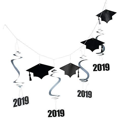 Fun Express - 2019 Mortarboard Hanging Garland for Graduation - Party Decor - Hanging Decor - Garland - Graduation - 1 Piece