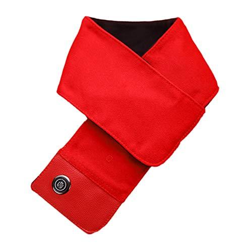 Bufanda calefactable, calentador de cuello USB Termostato de tres velocidades Envoltura de cuello Compresión caliente Bufanda calefactora lavable de calentamiento rápido Para esquiar Pesca,C,80*12cm