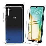 QFSM Coque + Verre trempé pour ZTE Blade A7 2019 (5.088') Etui Housse Silicone Gel Motif Transparent Souple TPU Cover Case, 9H...