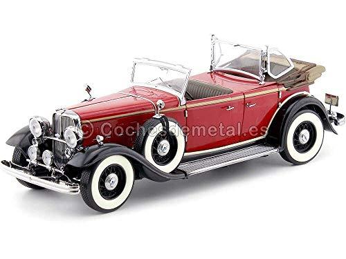 Ford Lincoln KB Softtop offen 1933 rot/schwarz, Modellauto 1:18 / Sun Star