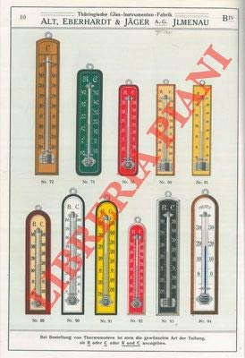 Illustrierte Preisliste uber Thermometer Barometer Hygrometer Araeometer. Glasinstrumente for Optische Geschichte.