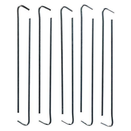 AB Tools-Redwood Metálica de Acero galvanizado piquetas fijadores para Camping Carpas 10PC