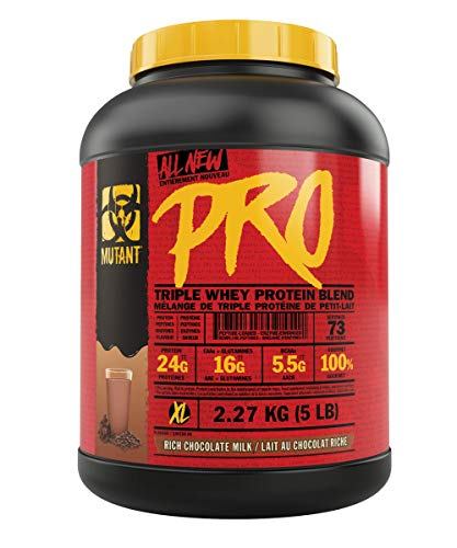 Mutant Pro – Triple Whey Protein Supplement – Time-Released for Enhanced Amino Acid Absorption – 2.27 kg – Rich Chocolate Milkshake