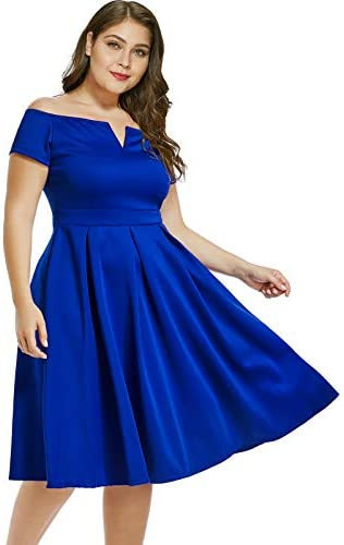 Royal blue dress for wedding _image1
