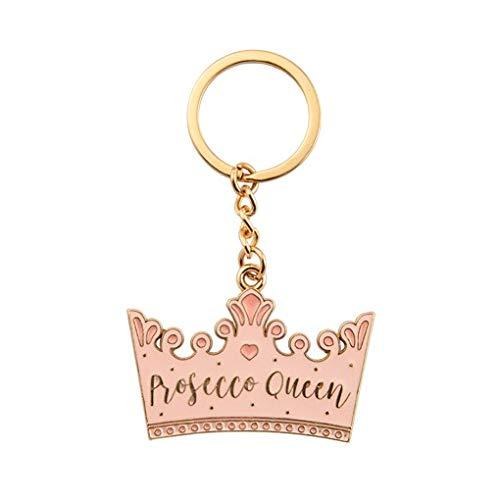 Sass & Belle Prosecco Koningin Kroon Emaille Sleutelhanger