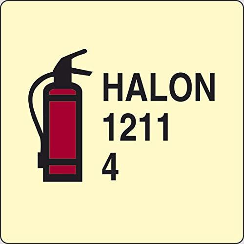 PIXLEMON Adesivo luminescente cm 15x15 HALON 1211 4 (estintore ad Halon 1211)
