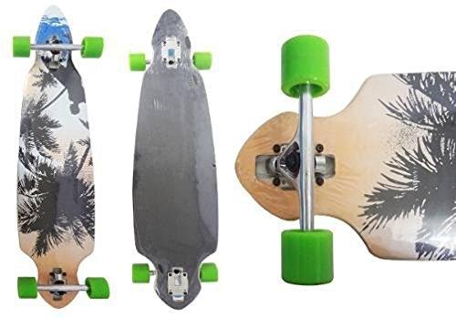 Skate Longboard Truck Invertido Abec 11 Cor Verde