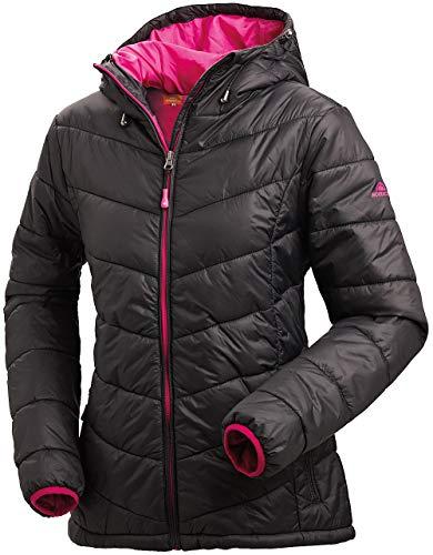 Nordcap Damen Jacke in Daunenoptik, warme Steppjacke in Schwarz, tolle Übergangs- & Winterjacke, 100% Wattierung (Gr: 36-50)