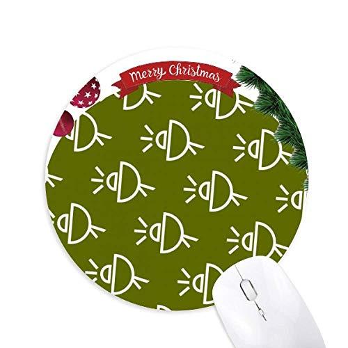 Satellitenantennen Seal Patterns Round Rubber Maus Pad Weihnachtsbaum Mat