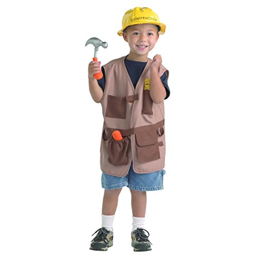 Brand New World Community Helper Construction Worker Dramatic Dress Up Brown