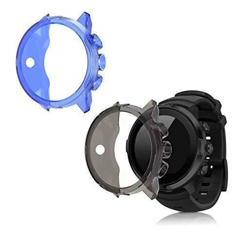 kwmobile 2X Coque Compatible avec Suunto 9/9 Baro/Spartan Sport Wrist HR - Coque étui Cadre écran Silicone - Set de Protection sans Le Tracker