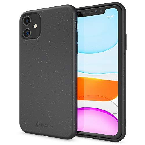 NALIA Bio Hülle kompatibel mit iPhone 11 Handyhülle, Nachhaltiges & Biologisch abbaubares Case Fair Eco Cover, Dünne Ökologische Schutzhülle, Weicher Veganer Premium Phone Bumper, Farbe:Schwarz