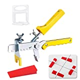 Tile Leveling System, Premium 300 pcs 1/16' Tile Spacers Clips, 100 pcs Reusable Wedges and 1 pc Floor Tiles Pliers for Living Room Shower Floor/Wall Base Tile Leveler Tools for Installation